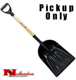 CORONA Plastic Scoop Shovel with Wood D-Grip Handle