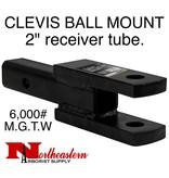 """Bandit® Parts CLEVIS/BALL MOUNT, 2"""" receiver, 1"""" Holes, 6,000# M.G.T.W."""