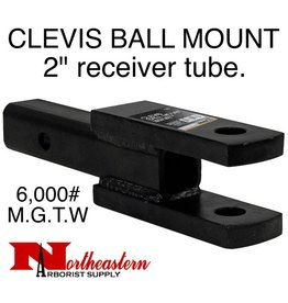 """Buyers CLEVIS/BALL MOUNT, 2"""" receiver, 1"""" Holes, 6,000# M.G.T.W."""