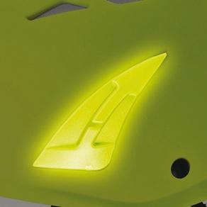KASK Yellow Hi-Viz Kask Plasma Work Helmet with Adapter for Ear Defenders