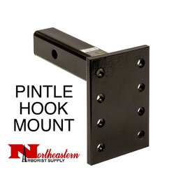 "Bandit® Parts Pintle Mount Plate, 3 Position, 2"" x 10"" Shank 13,000# MGTW"