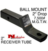 "Bandit® Parts Hitch Ball Mount, 2"" Sq, 2"" Dorp, 7,500# M.G.T.W."