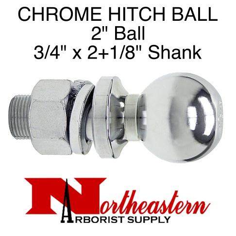 """Ball 2"""", Replacement, Shank Diameter 3/4"""" x 2+1/8"""" Shank Length, 3,500# M.G.T.W."""