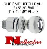 """Ball 2+5/16"""", Replacement, Shank Diameter 1"""" x 2+1/8"""" Shank Length, 7,500# M.G.T.W."""