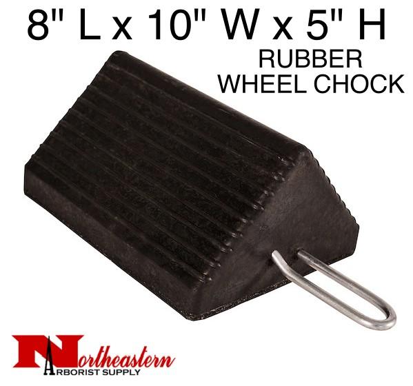 "Wheel Chock, Heavy-Duty Rubber with Handle 10"" W x 8""D x 5""H"