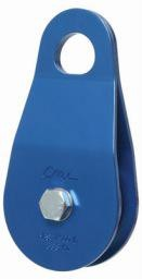 """CMI Block, 5/8"""", 2"""" Blue Anodized Aluminum side plates, sheave, Needle Bearing, and Steel axle. 7,500lbs. MBS"""