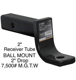 "Bandit® Parts Hitch Ball Mount, 2"" Sq., 4"" Drop, 2.75"" Lift 6,000# MGTW"