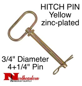 "Buyers HITCH PIN Yellow zinc-plated 3/4"" x 4+1/4"""