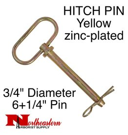 "Buyers HITCH PIN Yellow zinc-plated 3/4"" x 6+1/4"""