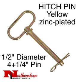 "Buyers HITCH PIN Yellow zinc-plated 1/2"" x 4+1/2"""