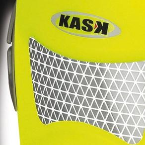 KASK White Hi-Viz Kask Plasma Work Helmet w/ Adapter for Ear Defenders