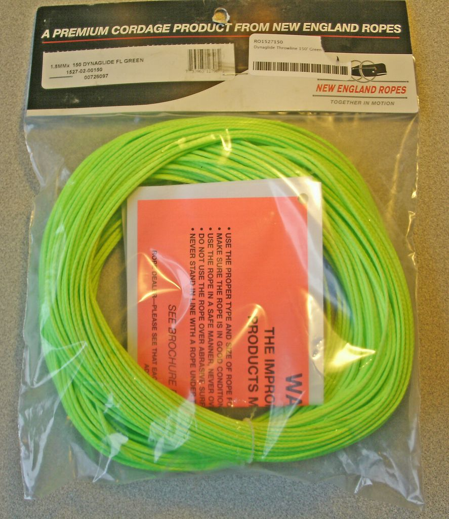 Teufelberger Dynaglide Throwline 2mm x150' Green ATS 1000#
