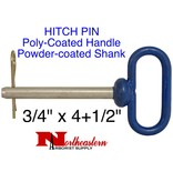 """HITCH PIN, Poly-Coated Handle, powder-coated steel shank, 3/4"""" x 4+1/2"""""""