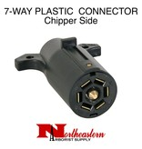 Buyers Trailer End Connector, 7-Pin Plastic Flat Pins, Chipper Side
