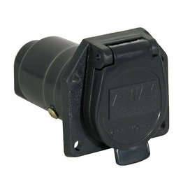 Buyers Truck Side Trailer Connector, 7- Flat Pin Plastic