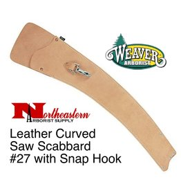 Weaver Leather Curved Saw Scabbard #27 with Snap Hook