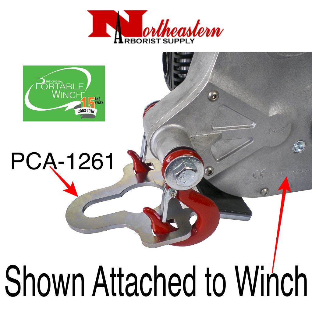 PORTABLE WINCH CO. Hitch Plate winch anchor. Fits towing balls up to 2""