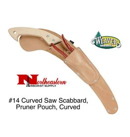 Weaver Curved Saw Scabbard #14 with Pruner Pouch, Curved Back