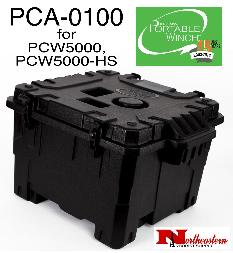 PORTABLE WINCH CO. Transport case with molded parts is specially designed for the PCW5000 and PCW5000-HS winches