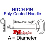 """Buyers HITCH PIN, Poly-Coated Handle, powder-coated steel shank, 1/2"""" x 4"""""""