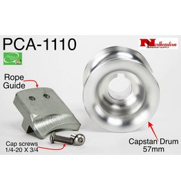 PORTABLE WINCH CO. Capstan Drum 57mm with Rope Guide and SS Screws