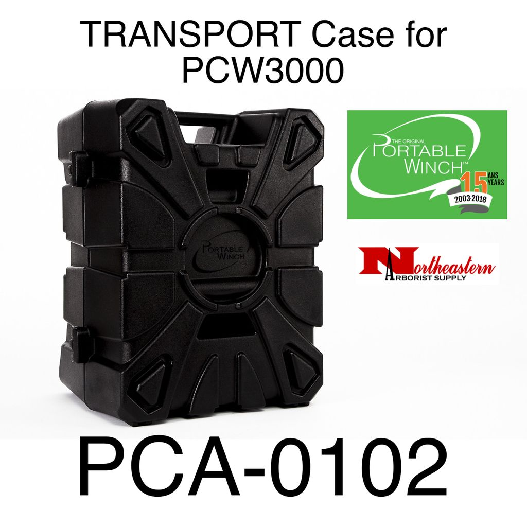 PORTABLE WINCH CO. Transport case with molded parts, specially designed for the PCW3000 winch