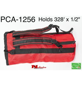 "PORTABLE WINCH CO. Rope Bag  with Shoulder Straps, Medium Red for 328' X 1/2"" Rope"