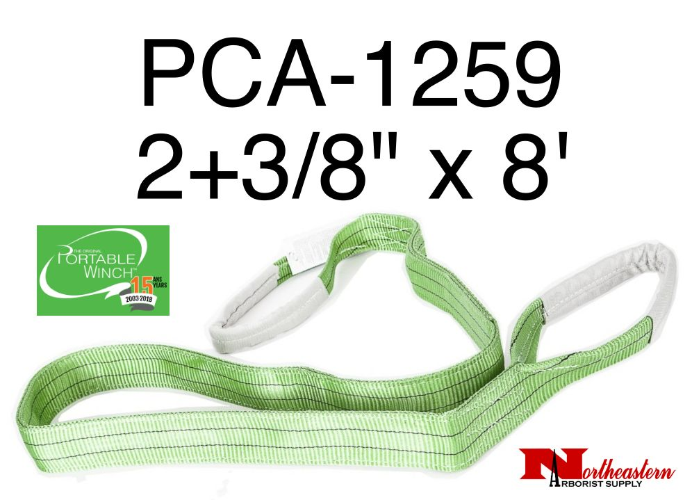 """PORTABLE WINCH CO. Polyester Sling 2+3/8"""" x 8' (4409# WLL)"""