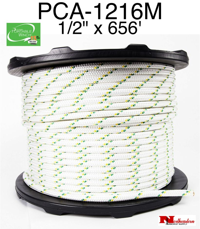 """PORTABLE WINCH CO. Rope for Winch  1/2"""" x 656' ( 7275# MBS)"""