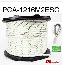 """PORTABLE WINCH CO. Rope for winch 1/2"""" x 656' with 2 eye Splices & Thimbles (7275# MBS)"""