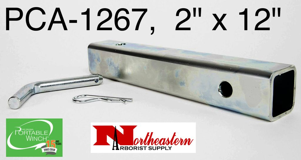 """PORTABLE WINCH CO. Anchor Tub 2"""" X 12"""" with Bent Pin for Category III Hitch Receiver use with PCA-1268 or PCA-1264"""