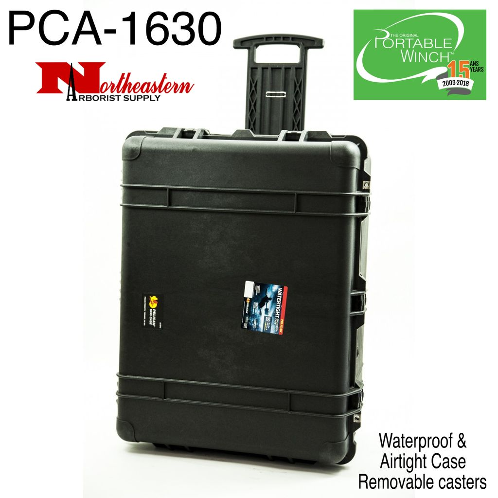 PORTABLE WINCH CO. Case, Padded, Waterproof, & Airtight with removable casters