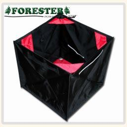 "Forester Folding throwline cube. The best way to gather and store throw line. Opens to a large 17"" cube and can be folded down into a small triange. Built to last."