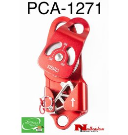 """PORTABLE WINCH CO. Swing side self-llocking aluminum pulley 1 sheave 2+7/16"""" diameter"""