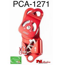"PORTABLE WINCH CO. Swing side self-locking aluminum pulley 1 sheave 2+7/16"" diameter"