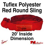 Lift-All® Tuflex Roundsling, 20 FT RED Polyester