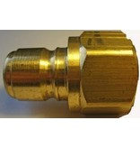 """PARKER High Flow (Unvalved) Quick Nipple 3/4"""" Female Pipe Thread"""