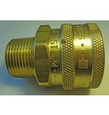 """PARKER High Flow (Unvalved) Quick Coupler 3/4"""" Male Pipe Thread"""