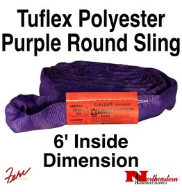 Lift-All® Tuflex Roundsling, 6 FT Purple Polyester