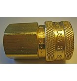 """PARKER High Flow (Unvalved) Quick Coupler 1/2"""" Female Pipe Threads"""
