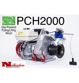 PORTABLE WINCH CO. Portable Winch, Gas-Powered Pulling & Lifting, Max. Pulling=2530#, Max. Lift=990#