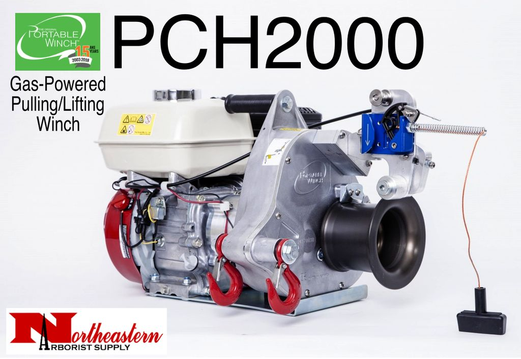 PORTABLE WINCH CO. PCH2000 Gas-Powered Portable Capstan Winch for Pulling & Lifting