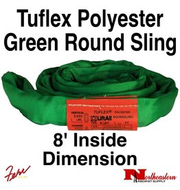 Lift-All® Tuflex Roundsling, 8 FT Green Polyester