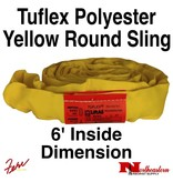 Lift-All® Tuflex Roundsling, 6 FT Yellow Polyester