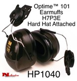 3M PELTOR Optime Dielectric 101 Helmet-Mount Earmuffs, H7P3E