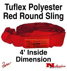 Lift-All® Tuflex Roundsling, 4 FT RED Polyester
