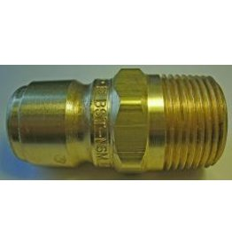 "PARKER HANNIFIN High Flow (Unvalved) Quick Nipple 3/4"" Male Pipe Thread"