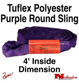 Lift-All® Tuflex Roundsling, 4 FT Purple Polyester