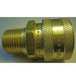 "PARKER High Flow (Unvalved) Quick Coupler 1/2"" Male Pipe Threads"