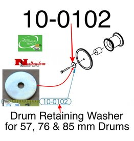 PORTABLE WINCH CO. Drum Retaining Washer for 57, 76 & 85 mm Drums, 10-0102